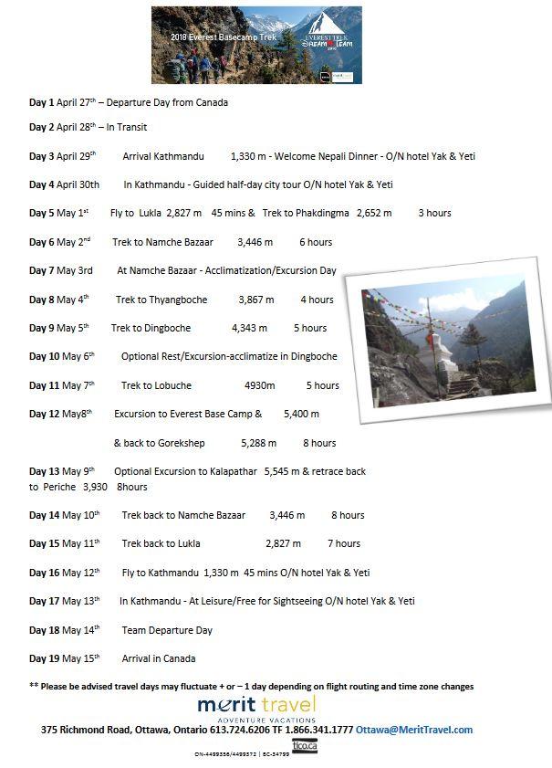 ebc-2018-itinerary